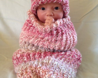 Pink and Cream Bohemian Baby Cocoon Photo Prop Set With Free Shipping