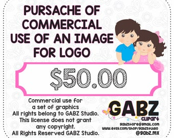 Pursache of Commercial Use of an Image For Logo, Not available for use of discount coupons, Gabz