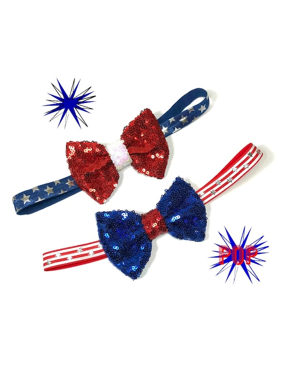 Bowtie For Dog  || July 4th || Bowtie for Kitty || Fourth of July || Pet Bow Tie || Cat Costume