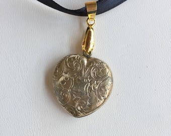 Victorian Heart Locket with Hair Receiver