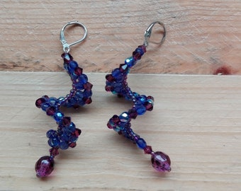 Variety purple twisted earrings