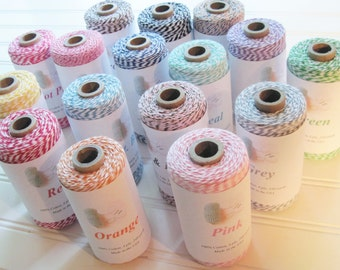 Baker's Twine 240 Yard Roll  Spool 100% Cotton Gift Wrapping Packaging Treats Weddings Scrap-booking Tags Favors
