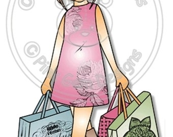Digital (Digi) Shopping  Emma  - Stamp. Female and Girls  Birthdays.