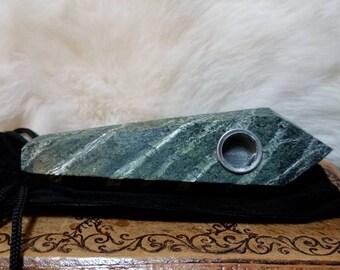 Zebra Stone Crystal Pipe