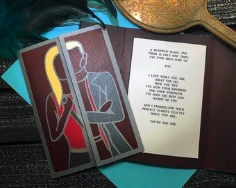 Buffy and Spike - You're The One greeting card