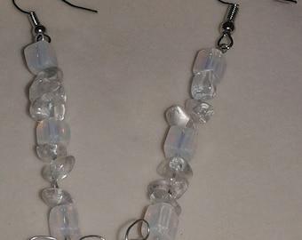 Opalites swarovski crystals earrings