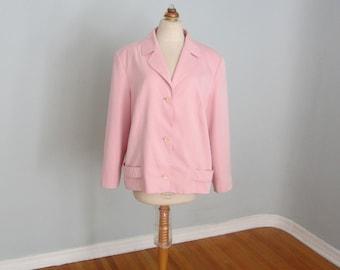 Plus Size Jacket, Pink Jacket, Womens Jacket, Womens Pink Jacket, Plus Size Blazer, Pink Blazer, Plus Size Clothing, Pink Plus Size Jacket