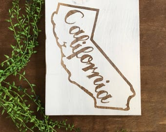 State Sign California State Sign State Signs Farmhouse Decor Rustic Wood Sign Personalized Wood State Sign Home State Sign Wall Hanging