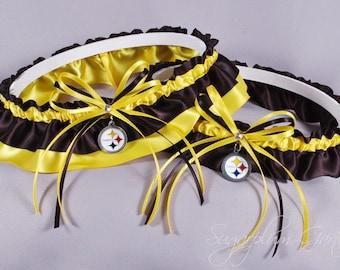 Pittsburgh Steelers Wedding Garter Set