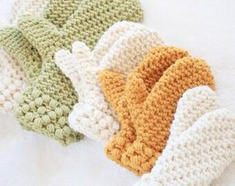 Mitten Pattern / Toddler Winter Mittens Crochet Pattern / DIY Mittens / Gathered Buds Mittens by Hidden Meadow Crochet - P-GBMittens