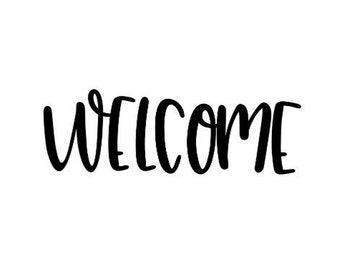 Welcome Vinyl Decal