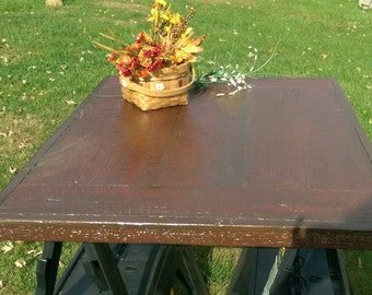 "Reclaimed barn wood table top 31"" x 42 1/2"""