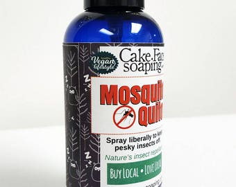 16 oz. BULK Natural Mosquito Repellant with nourishing rose petal water and essential oils