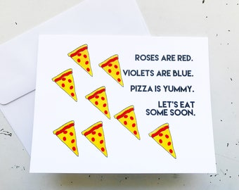 Pizza Poetry Greeting Card
