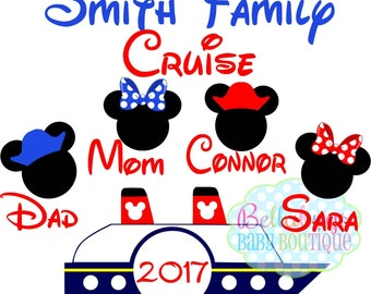 Family Disney Cruise PRINTABLE Digital Iron-On Transfer Design - DIY - Do It Yourself - Vacation - Disney