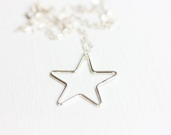 Star Necklace, Sterling Silver or Gold Filled
