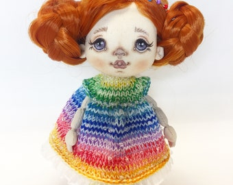 Textile doll, hand made doll, art doll