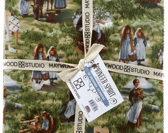 Maywood Studio Pioneer Spirit 10 Inch Squares 42 Pieces Pre-Cut Cotton Fabric Layer Cake Little House on the Prairie