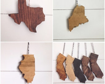 Wood State Ornaments - we can do any state