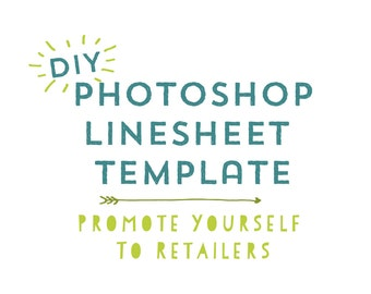 DIY Photoshop Line Sheet Template - Promote Your Business to Retailers