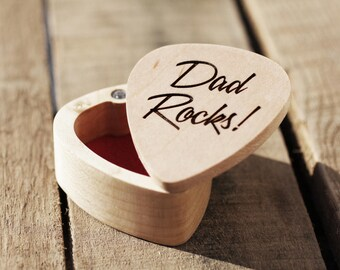 Guitar Pick Box Engraved Guitar Pick Box Custom Guitar Pick Guitar Pick Holder Fathers Day Gift Music Teacher Gift  Guitar Player Gift