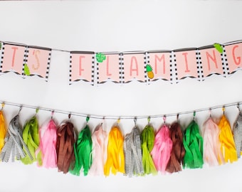 Flamingo Party Banner | Flamingle Party Banner | Flamingle Bachelorette | Pineapple Party