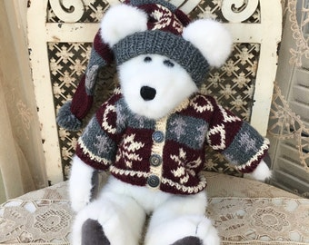"Adorable Boyds Bear Teddy Bear: ""Tomba Bearski"" In Ski Outfit"