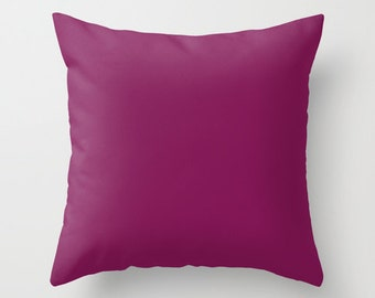 French Plum Pillow, #811453, Solid Purple Throw Pillow, Solid Purple Pillow, Plum Pillow, Modern Pillow, Minimalist Decor, Minimalist Pillow