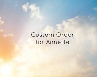 Custom Order for Annette