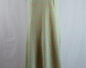 Vintage 1960s Pastel Knee Length Sleeveless Day Dress