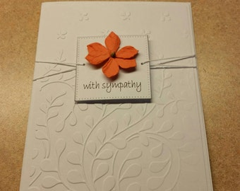 Sympathy card. Bereavement. Grief. Loss of a Loved One. Embossed Card.