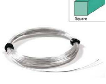 1M .925 Sterling Silver Square Wire 0.4mm 0.6mm Jewellery Making