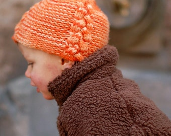 Lollie cabled pixie Hat PDF knitting pattern (instructions)
