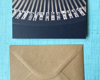 Vintage Typewriter Photography Note Card