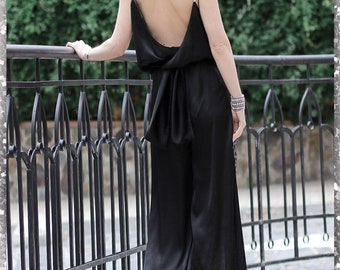 Refined black combination with open back from by ТМ «Konstantin Miro by FashionArt»