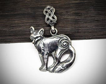 Celtic fox pendant / Animal necklace / Viking jewelry / Norse / Nordic / Foxes