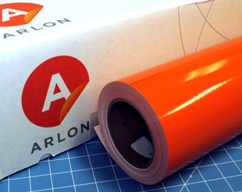 "Orange Arlon 5000 12"" x 5' (5 feet) Roll * Sign Vinyl * Decal Vinyl"
