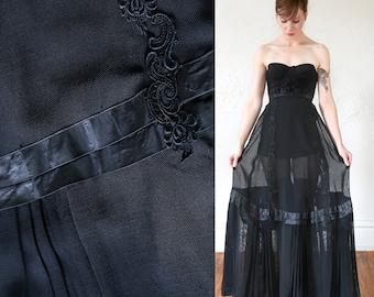 1800s Skirt Sheer Black