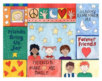 Friends Friendship Card - Set of 4 Cards