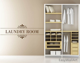 Laundry Room Decor, Laundry Room Wall Decal, Laundry Room Decal, Laundry Wall Decal, Laundry Wall Art, Laundry Decal Laundry Stickers #Q57
