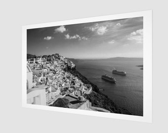 Santorini Hill Top Fine Art Print, 1:50 Limited Edition / home decor / decoration / photo / photography / black and white / lux . modern