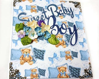 Baby Boy Mini Album, photo album, photo album scrapbook, photo album baby