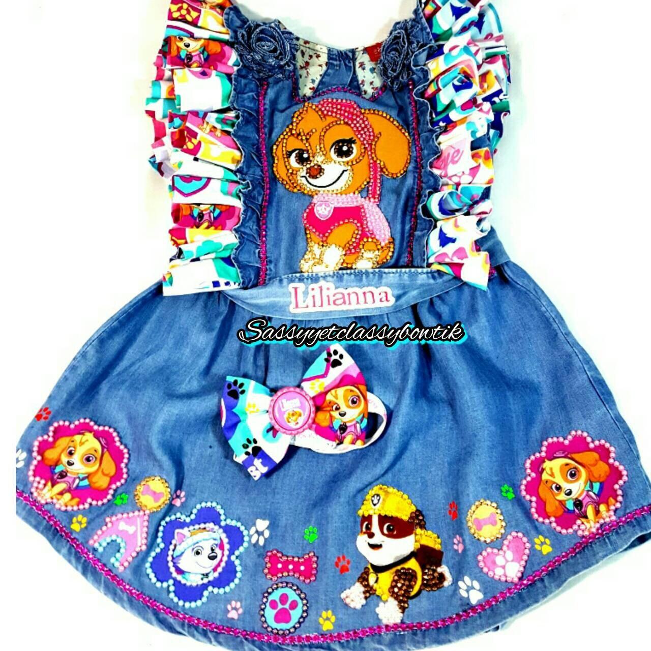 Paw patrol birthday outfit Paw patrol dress Paw Patrol