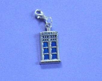 Doctor Who Tardis Purse Charm,Silver Tardis Charm,Bag Charm,Tardis,Dr Who Bracelet Charm,Silver Handbag Charm,Doctor Who Charm,Dr Who Charm