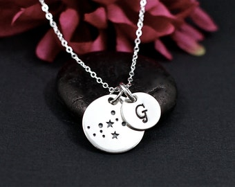 Virgo Constellation Necklace Sterling Silver | Virgo Jewelry | Virgo Sign Necklace | Virgo Zodiak | Personalized Virgo Birthday Gift