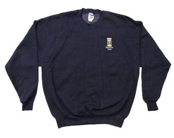 Vintage Days of Our Lives Embroidered Navy Blue Sweatshirt X-Large 90s Sportswear Soap Opera TV Show Promo
