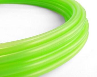 Translucent UV Green Slime 5/8 Polypro Hula Hoop// Customizable// Light Weight//Trick Hoop//Dance Hoop
