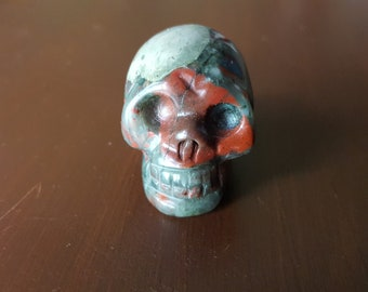 Dragons blood jasper crystal skull