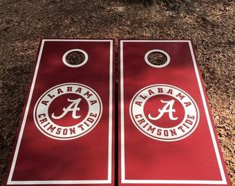 Alabama Crimson Tide Cornhole Set With Bags