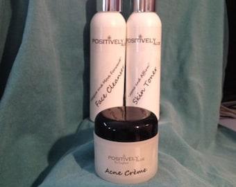 3 in 1, Cleanser, Toner and skin cream package, Aloe Vera,